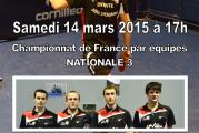ENTENTE ASUL/TTSJ vs ASPC NIMES – Nationale 3 – 14/03/2015