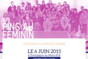 «PING AU FEMININ» – Prochaine journée le 6 juin 2015 à Champagne-au-Mont-d'Or : inscrivez-vous en ligne !