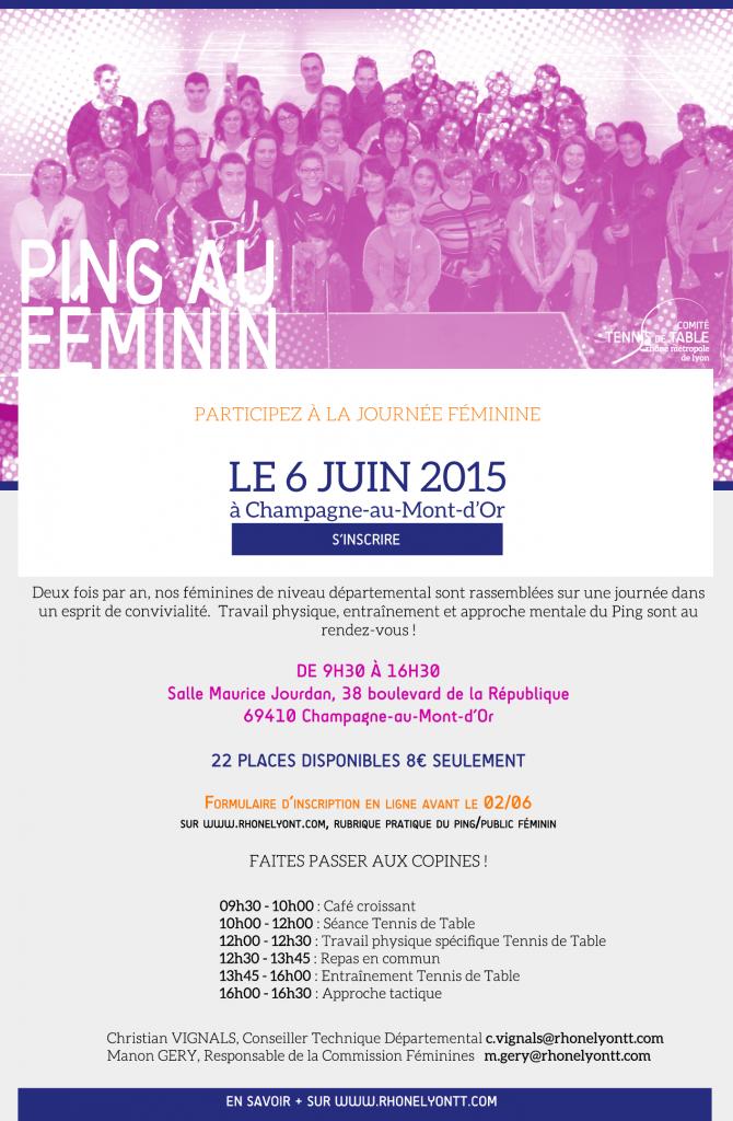 ping au feminin prochaine journ e le 6 juin 2015 champagne au mont d or inscrivez vous. Black Bedroom Furniture Sets. Home Design Ideas
