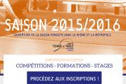 Compétitions, formations, stages de Ping de la saison 2015/2016 : les inscriptions sont ouvertes !