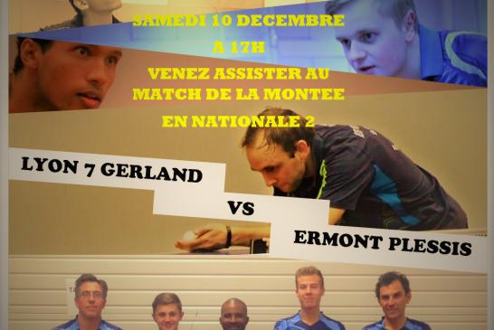 TT Gerland : objectif Nationale 2 messieurs – 10/12/2016