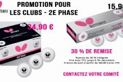 Offre promotionnelle balles Butterfly