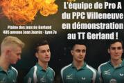 L'équipe de Pro A du PPC Villeneuve en démonstration au TT Gerland lundi 4 décembre à 20h !