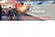 ASUL – Romans : N1 Messieurs – vendredi 01/12/17 à 20h !