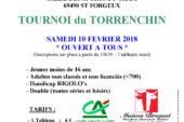 Tournoi Promo du TORRENCHIN – samedi 10 février 2018
