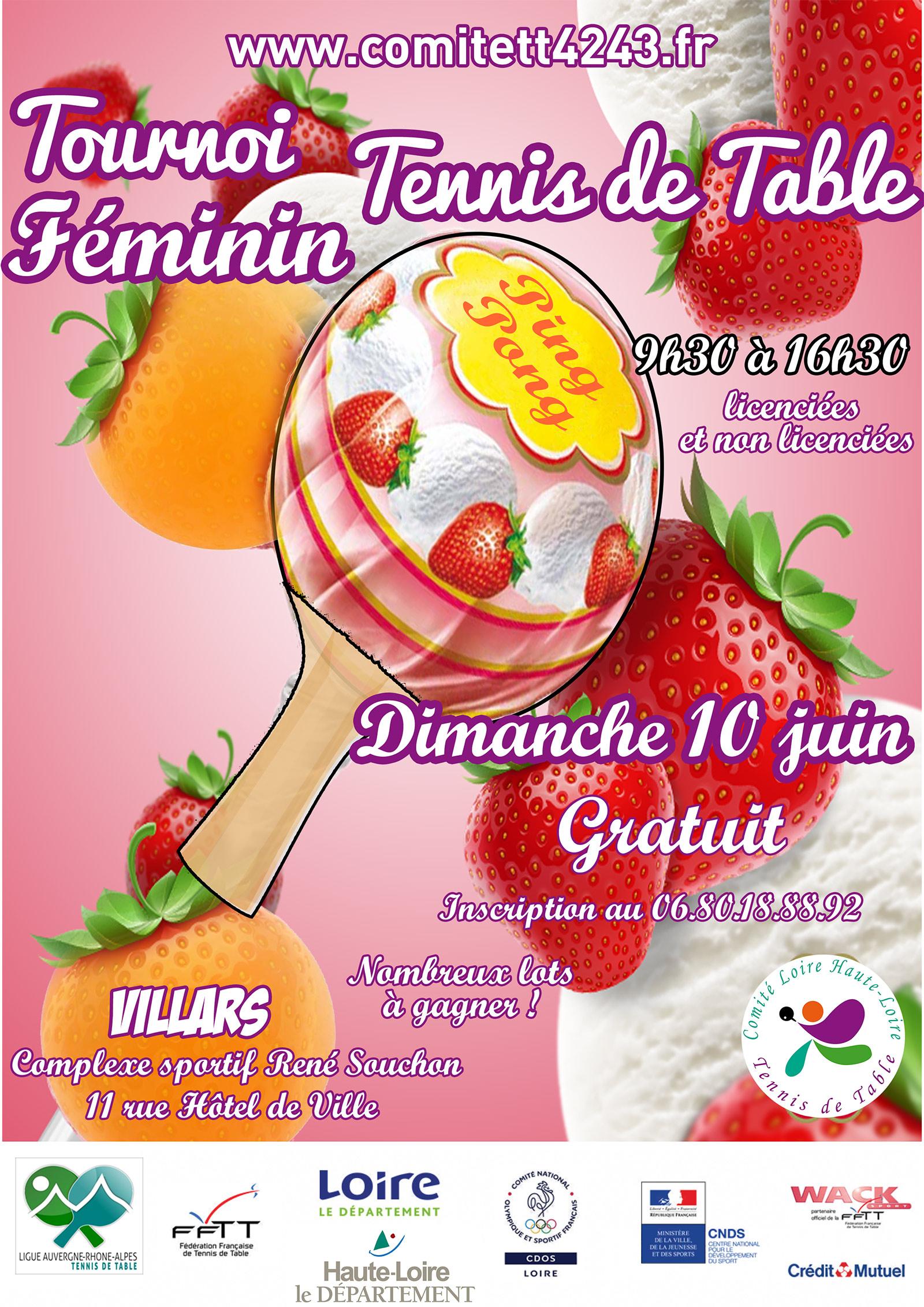 Tournoi Feminin Du Comite Loire Haute Loire De Tennis De Table