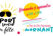 Partenaire du Département du Rhône pour «Sport et Loisir en fête» le dimanche 9 septembre 2018 à Mornant