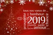 Les pongistes rhodaniens vous souhaitent une bonne et heureuse année 2019