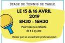 Stage 15-16 avril – St Martin en Haut