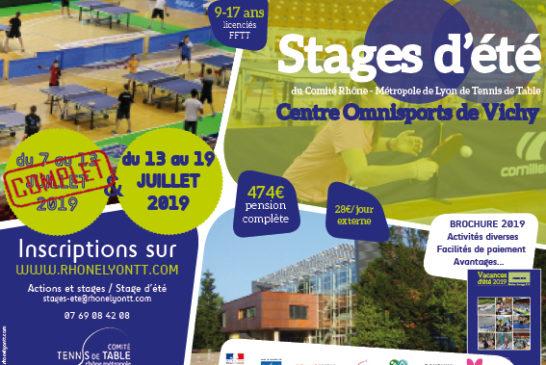 Dernières places pour le stage estival de Vichy !