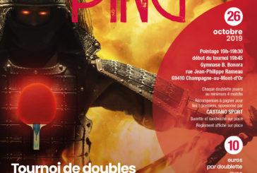 26 octobre 2019 – Ultimate Ping par le Champagne Tennis de Table