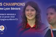 Découvrez nos champions Dames et Messieurs des Rhône-Lyon Séniors 2016 !