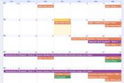 Le calendrier sportif 2018/2019 en ligne