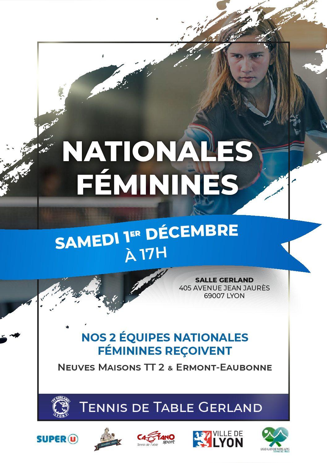 Nationales Féminines 1/12 à Gerland