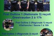 FRAT Oullins : rencontres du samedi 27 avril 2019
