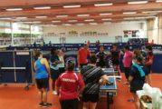 Le stage de tennis de table féminin à Gerland en images