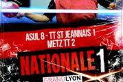 15 novembre 2019, Nationale 1 : ASUL 8 – TT St Jeannais 1 / Metz TT 2