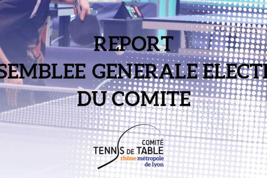 REPORT ASSEMBLEEGENERALE ELECTIVE DU COMITE