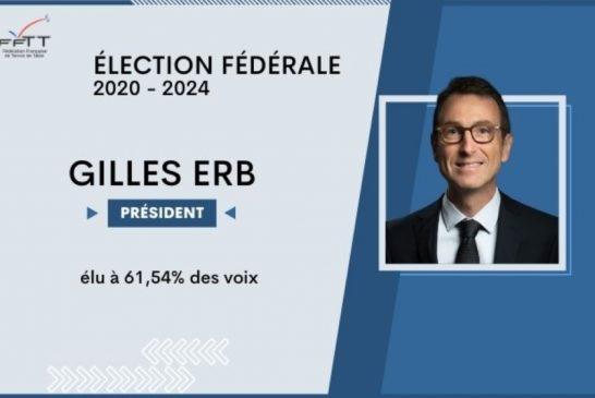 Gilles ERB, nouveau président de la FFTT pour 4 ans